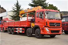 天龙8X4带徐工12吨加长5节臂   随车起重运输车/天龙8X4带徐工12吨加长5节臂
