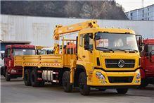 天龙8X4工程黄带石煤12吨三代机整车     随车起重运输车/天龙8X4工程黄带石煤12吨三代机整车