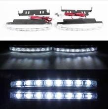 车载8LED日行灯 通用中网辅助灯 超亮大功率外装饰灯日间行车灯