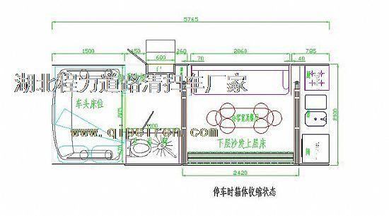 依维柯房车平面设计图