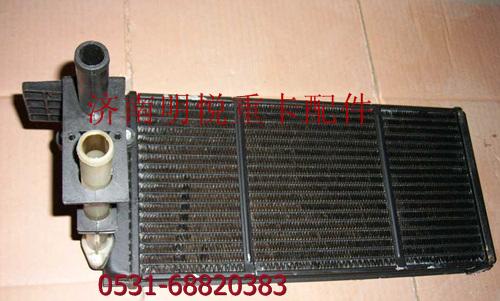 中国重汽howo原厂空调暖风水箱散热器带电控水阀总成图片