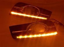 科鲁兹日行灯 带转向 高配版雾灯LED九连珠改装 科鲁兹日间行车灯/科鲁兹日行灯