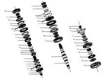 东风 四档齿轮轴承座圈 1700D-114 变速器二轴及齿轮(1700D7-100)/1700D-114