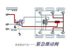 35RC16-06416东风天龙天锦大力神第四空气管总成-后贮气筒接继动阀/35RC16-06416