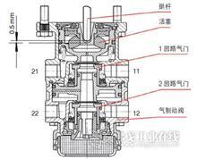 3502.32ZA11S-040东风天龙天锦大力神后右制动底板总成带蹄片总成/3502.32ZA11S-040