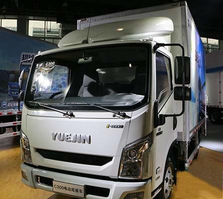跃进超越C300电动尾板车-透过广州车展看未来 卡车细分市场硝烟四起高清图片