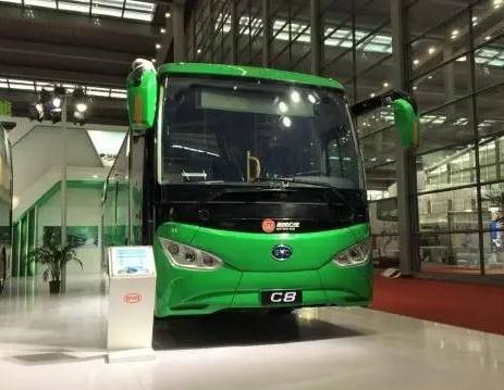 比亚迪C8纯电动客车-法国前总理拉法兰点赞比亚迪纯电动双层大巴比高清图片