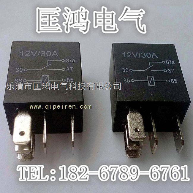 12v 用途:线圈通电产生磁场将动触电吸引并贴合静触点从而接通电路 成