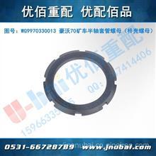 中国重汽HOWO豪沃70矿山霸王配件 半轴套管螺母/WG9970330013 AZ9970330013