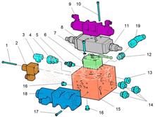 华菱车载泵重卡星马XA12-S/R1/2/WD块端直通接头/1311361798 XA12-S/R1/2/WD