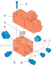 华菱车载泵重卡星马定位缸阀块CB90MM1-07-513/1311360158 CB90MM1-07-513