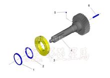 华菱星马重卡汉马8档变速箱油泵定位销/1701P1E301A0