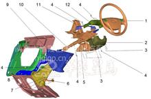 华菱重卡星马车身配件  驾驶室方向盘总成/53H08-05210