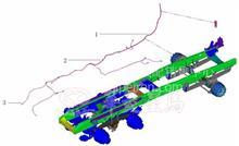 华菱重卡星马车身配件  ABS牵引车架线束/35FYDQ-50040