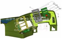 华菱重卡星马车身配件  翘板开关面板/53H08Y-06138