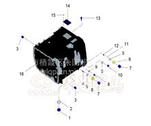 华菱星马重卡汉马16档变速箱常开式通气塞/1701P1E267A0