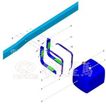 华菱重卡牵引车配件  汉马CM6D28发动机油箱液位传感器;油浮子
