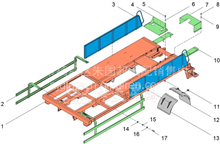 华菱重卡汉马车载泵防护栏总成 CB90LL1-01-06/3C90LL101-0600000  CB90LL1-01-06