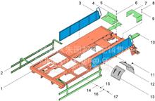 华菱重卡汉马车载泵防电器柜支架CB90LL1-01-09/3C90LL101-0900000  CB90LL1-01-09