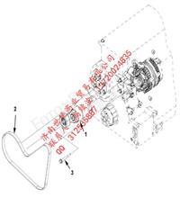 福田康明斯ISG发电机皮带  风扇皮带涨紧轮 水泵皮带/3694080 3694083 3696366 3696538 3695924 3694081