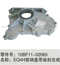 东风天锦风神4H发动机前齿轮室盖带油封总成/10BF11-02065