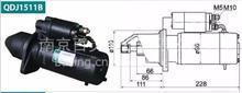 解放锡柴大柴6110、6113发动机 12齿减速起动机马达/QDJ1511B