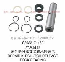 广汽日野700水泥搅拌车,泵车 离合器分离拨叉修理包/S3632-71160