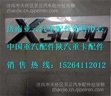 陕陕汽德龙X3000字标标牌DZ14251950001   DZ14251950002