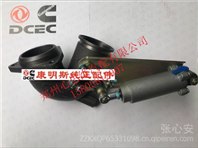 天龙天锦风神4H增压器出口连接管带排气制动阀1203015 KE300/康明斯纯正配件