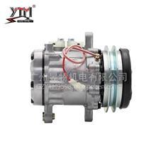 YTM昱特电机 HS116压缩机 凯斯CASE 75  12V/单A 压板/HS116