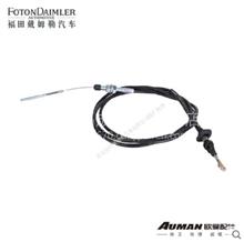 福田欧曼正品配件 油门操纵拉索总成 戴姆勒汽车油门操纵拉索/ F1124111800002