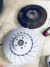 奥迪S7前后刹车原厂升级ECFRONT高碳梅花刹车盘/1
