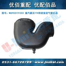 中国重汽 豪沃HOWO A7 T7H驾驶室事故车维修配件 进气管总成/WG9925191003