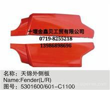 长期现货优势供应东风天锦/天龙外侧板/扰流板/扰流罩/轮罩/轮眉/5301600/601-C1100