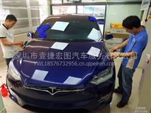 深圳贴膜汽车贴膜特斯拉MODEL X隐形车衣施工流程/奔驰