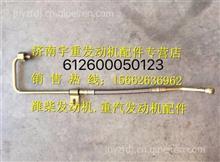 潍柴WP10发动机空压机回水管总成/612600130355