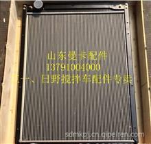 广汽日野700搅拌车拖头P11C发动机水箱散热器/日野700搅拌车驾驶室
