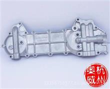 一汽解放赛龙锡柴4DF2系列发动机机油散热器盖板;冷却器盖板