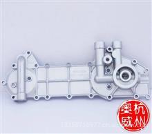 一汽解放赛龙锡柴4DF3系列发动机机油散热器盖板;冷却器盖板