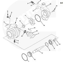 东风天锦电喷柴油机康明斯ISDE双缸空气压缩机4947027打气泵总成/4947027