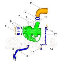 华菱汉马增压器连接管/618DA1118003A/618DA1118003A
