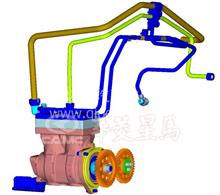 华菱汉马动力空气压缩机冷却水管1焊接部件/618DF3509101B/618DF3509101B