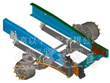 华菱牵引车底盘系统转向直拉杆总成/34FDY-01350-N/34FDY-01350-N