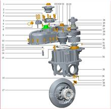一汽青岛解放 欧曼 青特QT435桥主锥轴承座紧固螺栓/QT435SH0-2502032