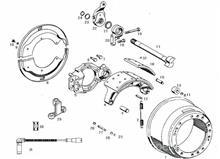 柳汽 欧曼 方盛三代奔驰桥中桥壳   后制动凸轮轴(右)/JY3502R043-041-FT