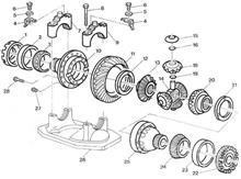柳汽 欧曼 方盛三代奔驰桥中桥壳  后桥轮间差速器半轴齿轮垫片/JY2403R040-021/B/C/D/E/F