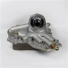 东风天锦风神4HBB平台机油冷却器芯带散热器座 1012BF11-010