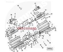 Cummins康明斯柴油发动机 垫片 4080573 中冷器盖垫片/kjh