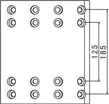 重汽豪沃、陕汽德龙配汉德桥16孔;中心距185MM制动刹车片;/摩擦片总成