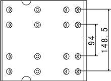 一汽解放奥威A型后桥16孔;中心距148.5MM制动刹车片;/摩擦片总成